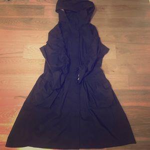 Lululemon departure smooth packable rain jacket.